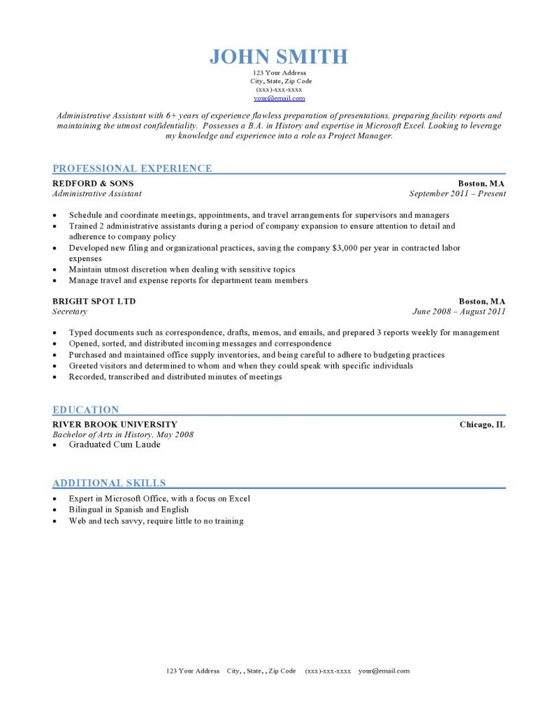 56 Best Sample Resume Format with Pics