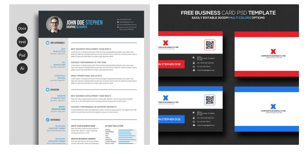 56 Inspirational The Best Free Resume Templates with Pics