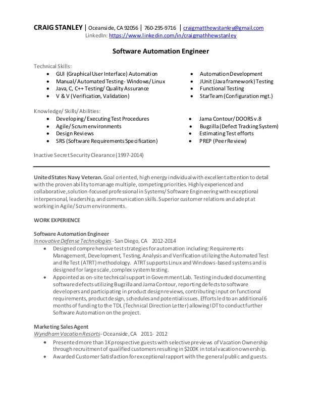 56 Nice Automation Engineer Resume with Pictures