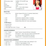 56 Top English Cv Template for Pics