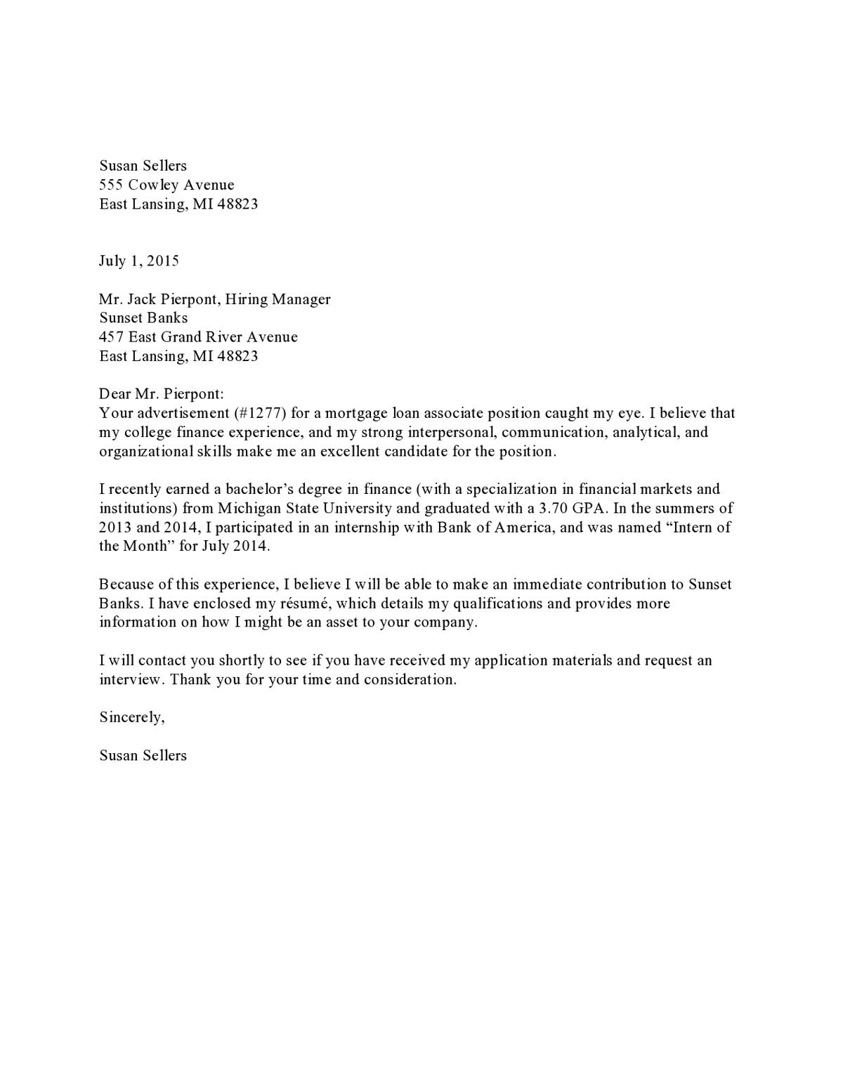 57 Excellent What Is A Cover Letter Example with Gallery