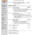 57 Great English Cv Template by Images