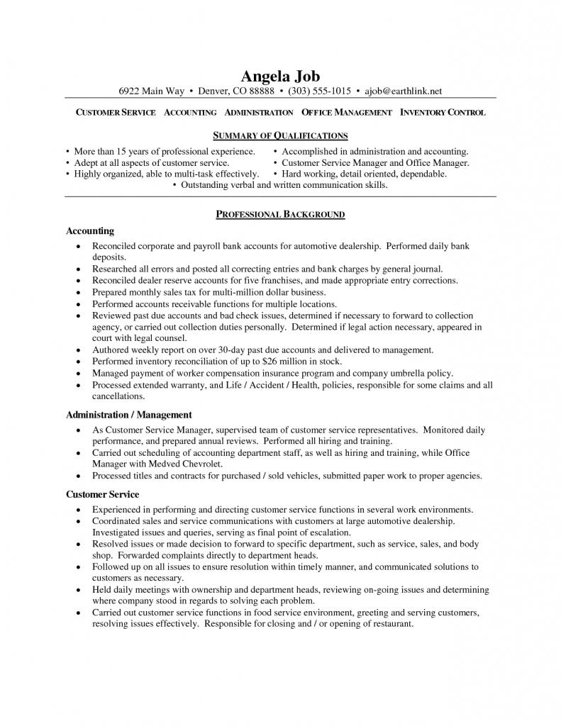 57 Lovely Customer Service Resume Objective Or Summary Examples for Ideas