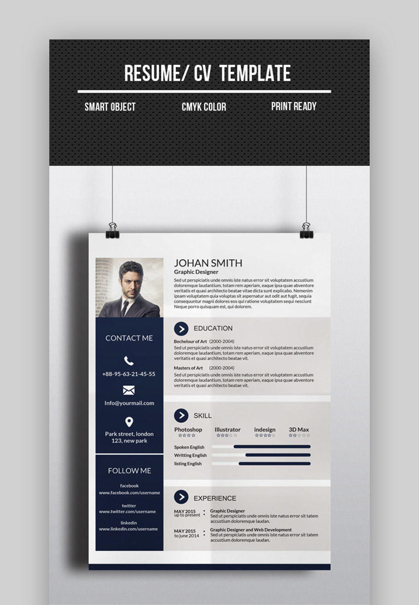 58 Excellent One Page Resume Site with Pics