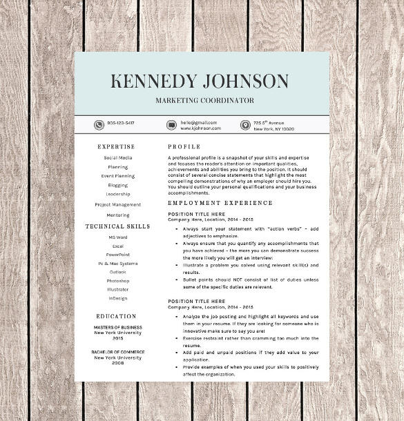 58 Great Free Pages Resume Templates with Images