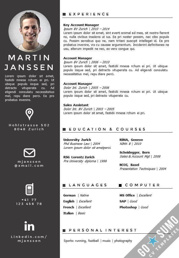 58 Lovely Curriculum Vitae Template with Design