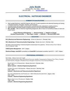 58 Nice Electrical Engineering Resume Sample For Freshers by Ideas
