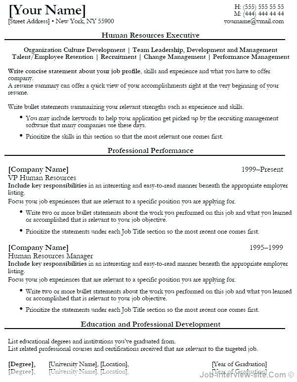59 Awesome Entry Level Human Resources Resume with Gallery