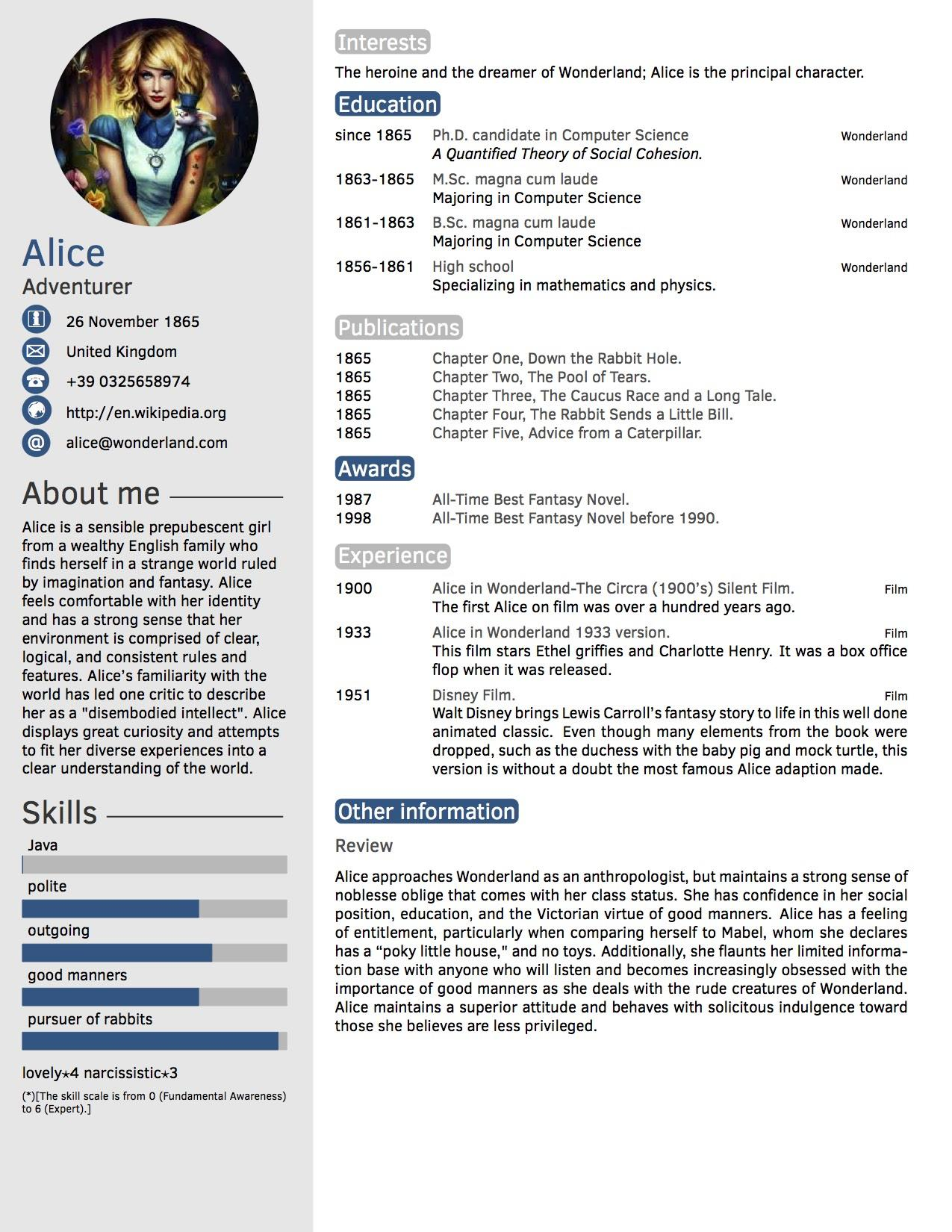 59 Inspirational The Perfect Resume Template for Ideas