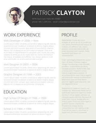 60 Awesome Beautiful Resume Templates Free for Gallery