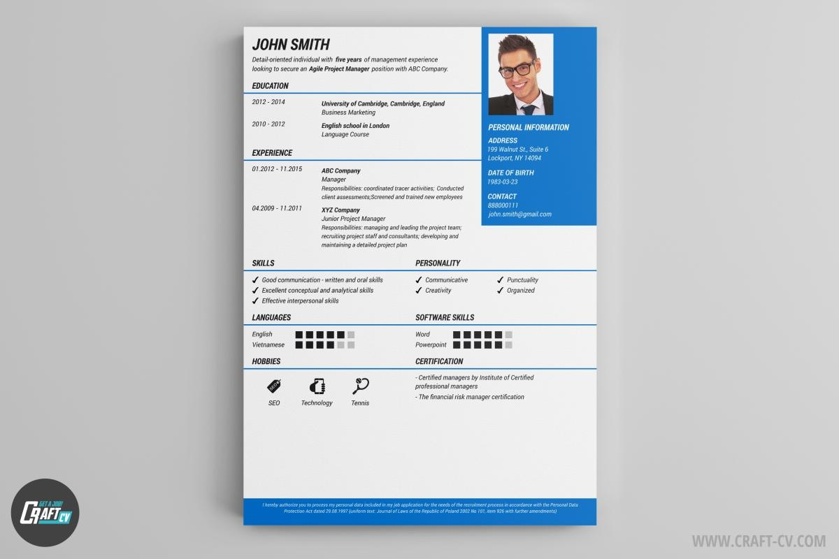 60 Awesome Free Cv Resume Builder for Design