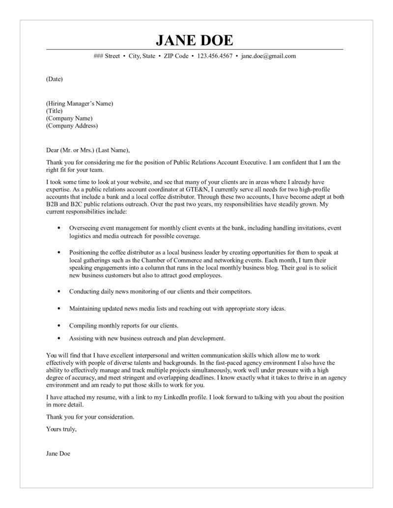 60 Best Executive Cover Letter by Pics
