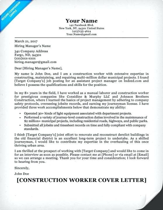 60 Cool Construction Superintendent Resume Cover Letter Examples for Images