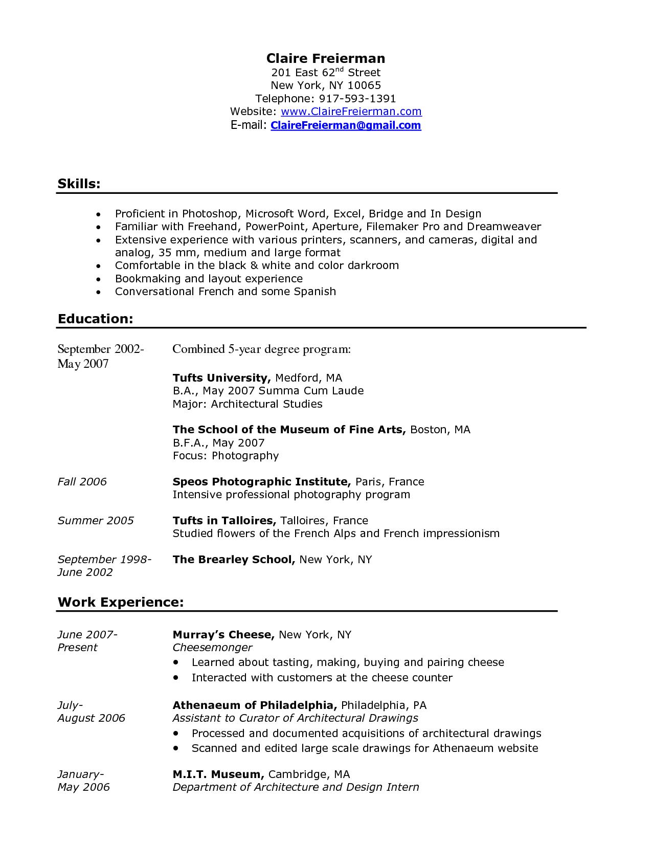 60 Excellent Experience Description Resume Examples by Gallery