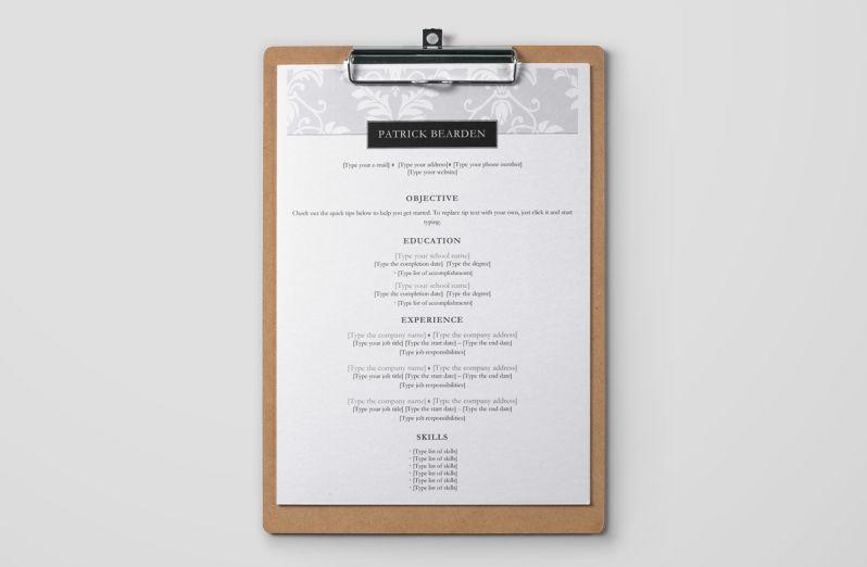 60 Lovely Simple Resume Template Word with Images