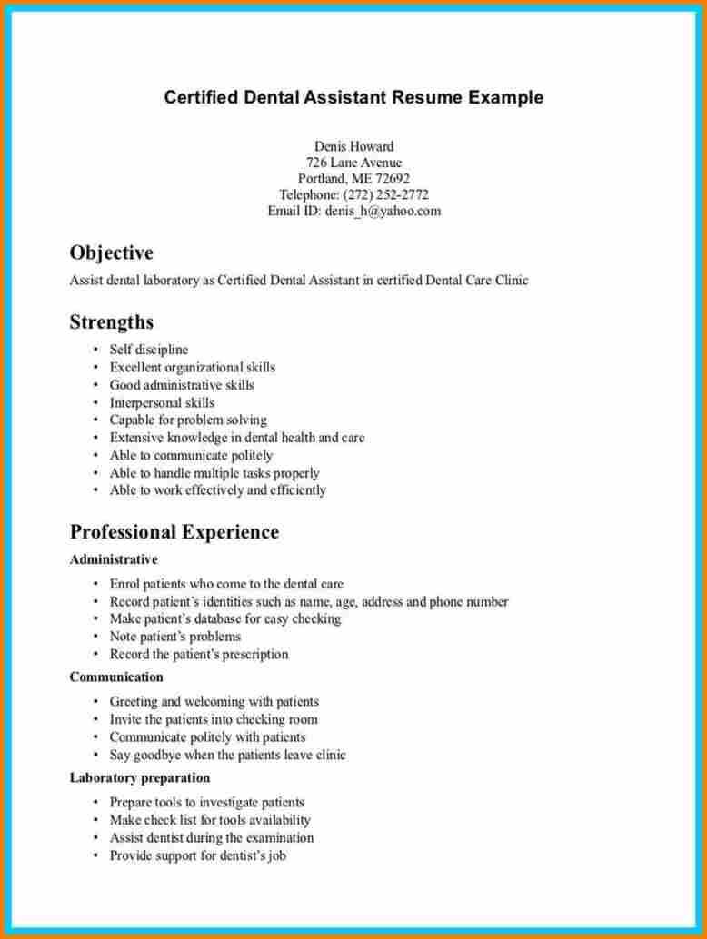 60 Nice Dental Assistant Resume Skills Examples with Pictures