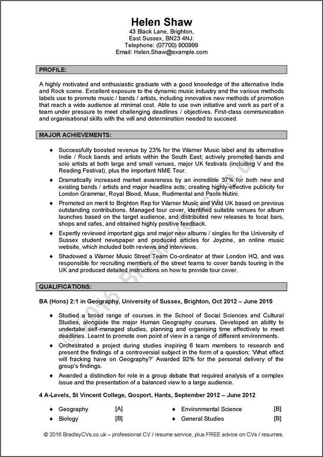 60 Nice Example Of Excellent Cv with Pictures