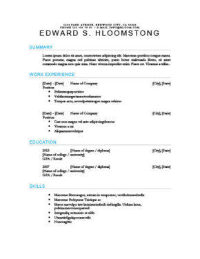 61 Best Chronological Resume Layout for Gallery