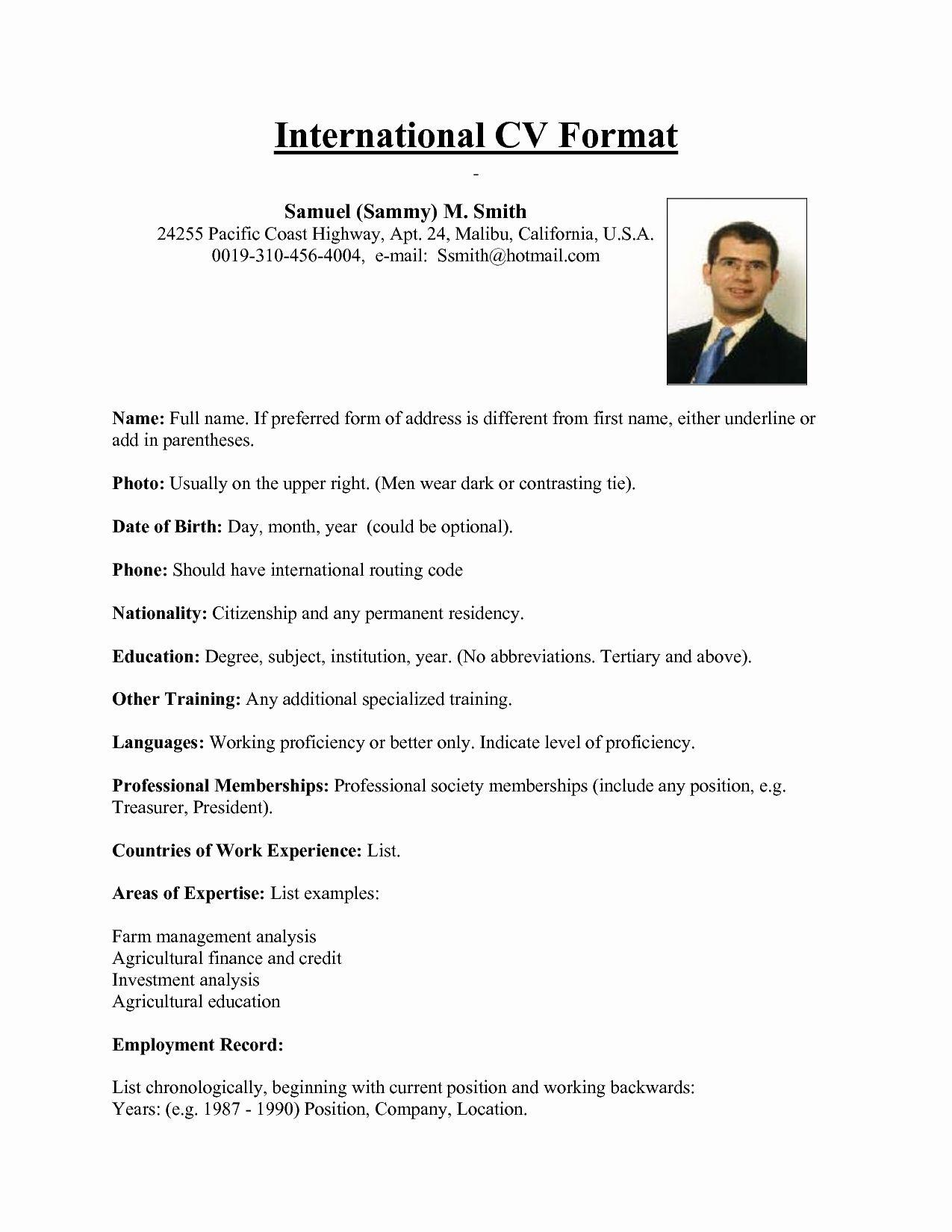 61 Cool Us Resume Format by Pictures
