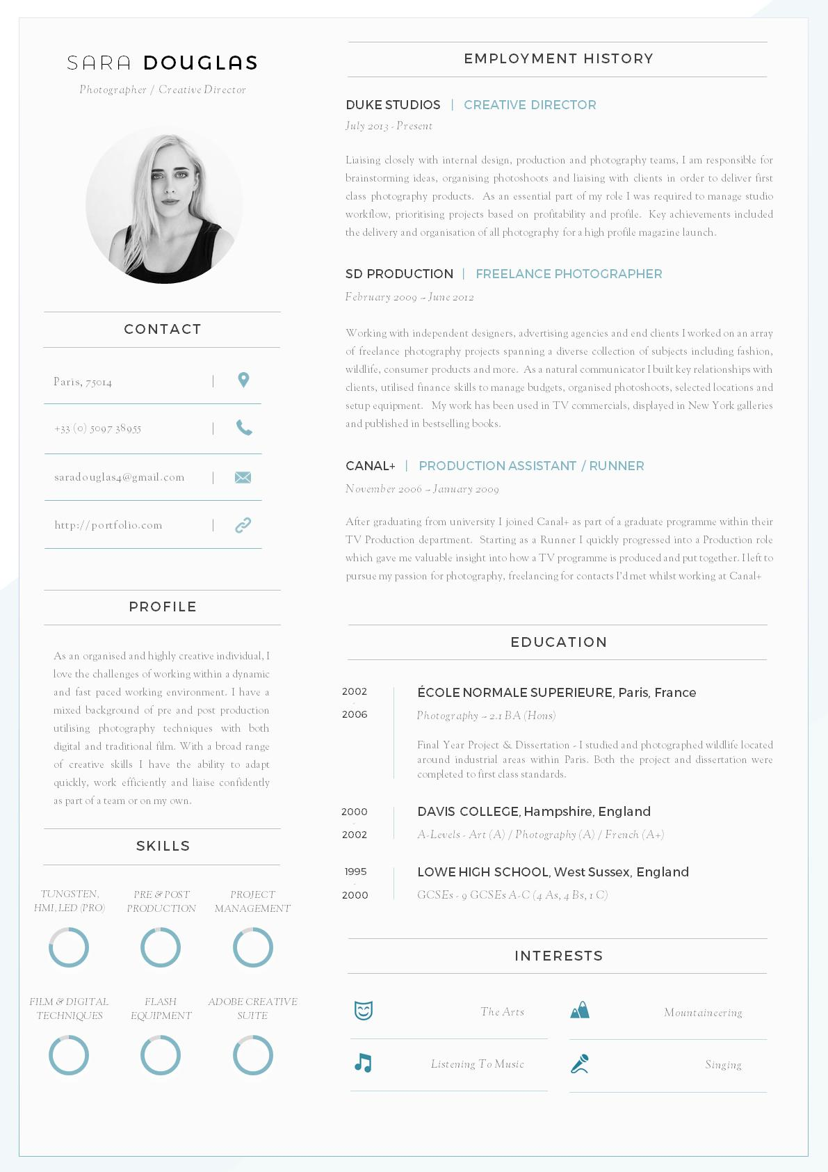 61 Excellent Modern Curriculum Vitae for Design