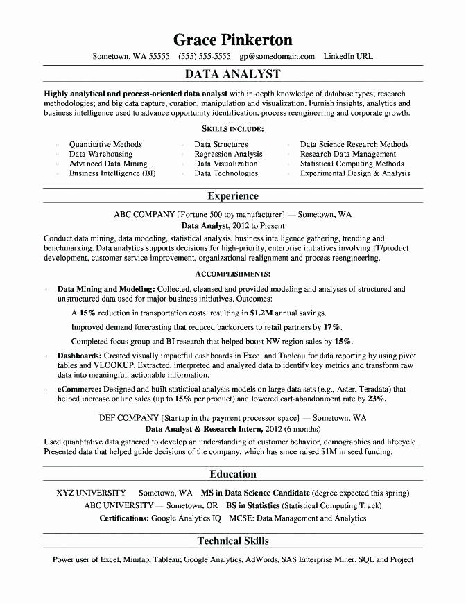 61 Fresh Business Analyst Resume Examples 2018 by Images