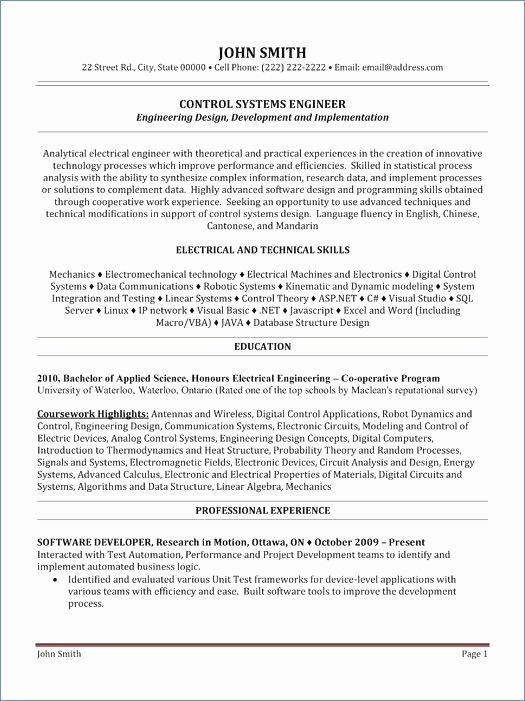 61 Great Entry Level Software Engineer Resume with Gallery