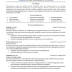62 Fresh Experienced Teacher Resume Examples with Design