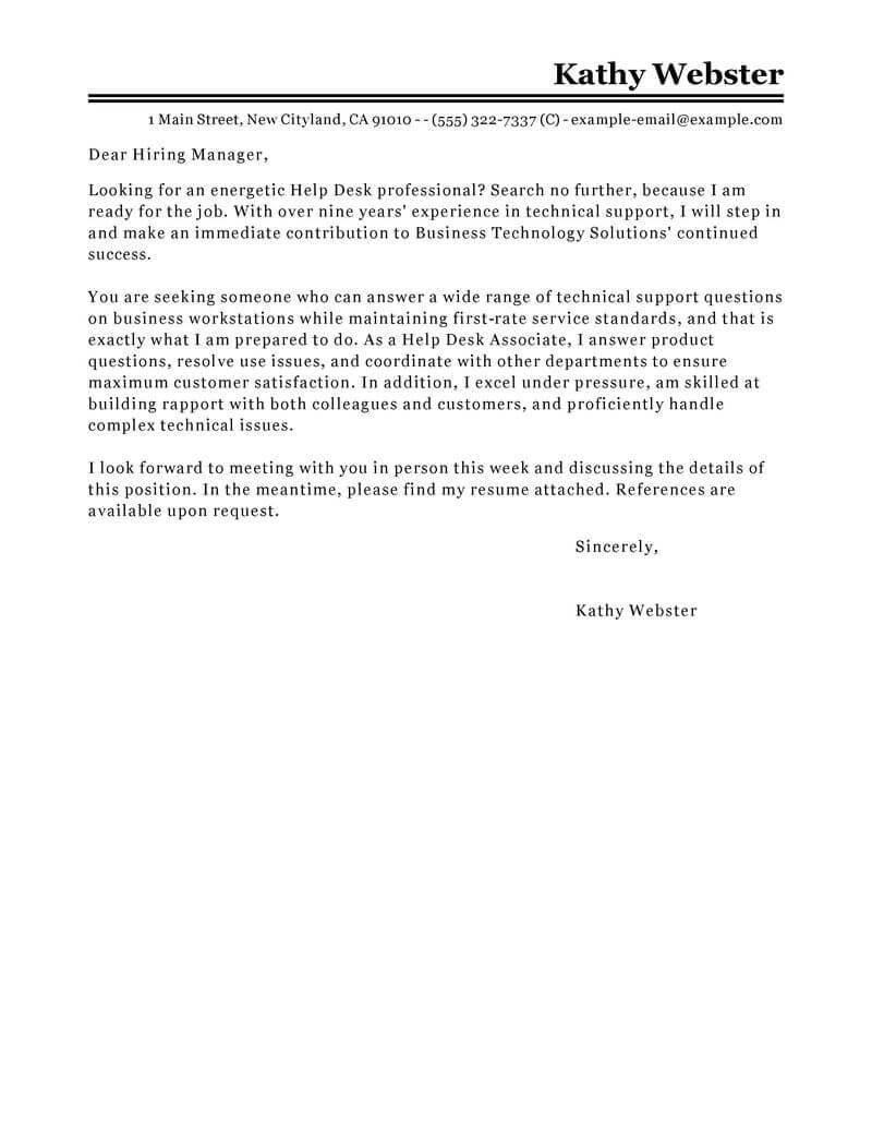 62 Inspirational Resume Cover Letter Help for Ideas