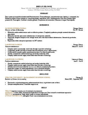 62 Stunning Sample Resume Format with Pictures