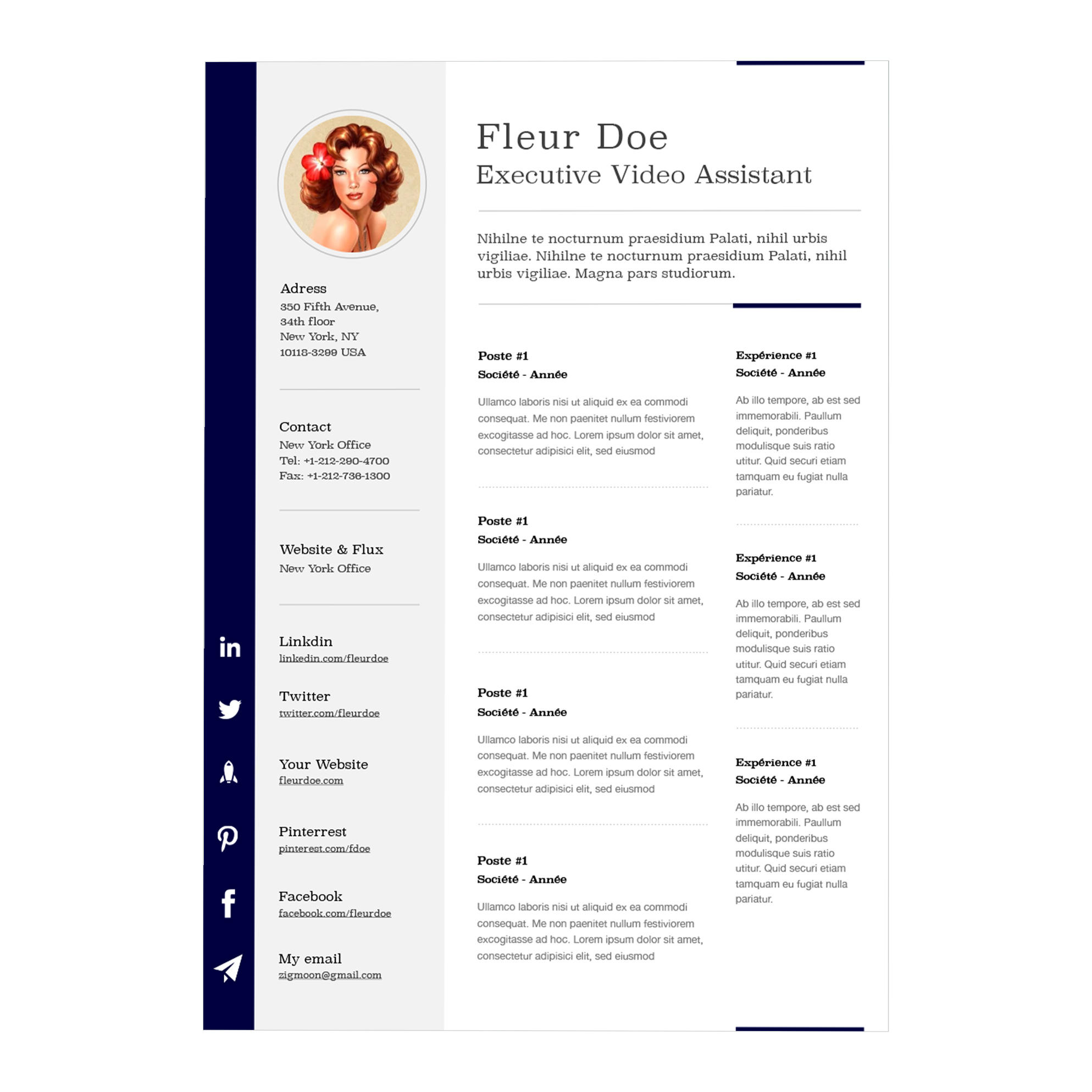 63 Beautiful Free Resume Templates For Mac for Pics