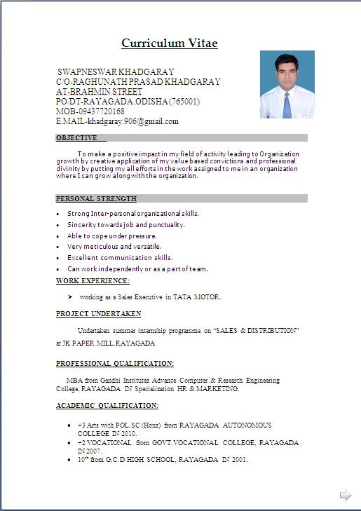 63 Best Resume Format In Word by Images