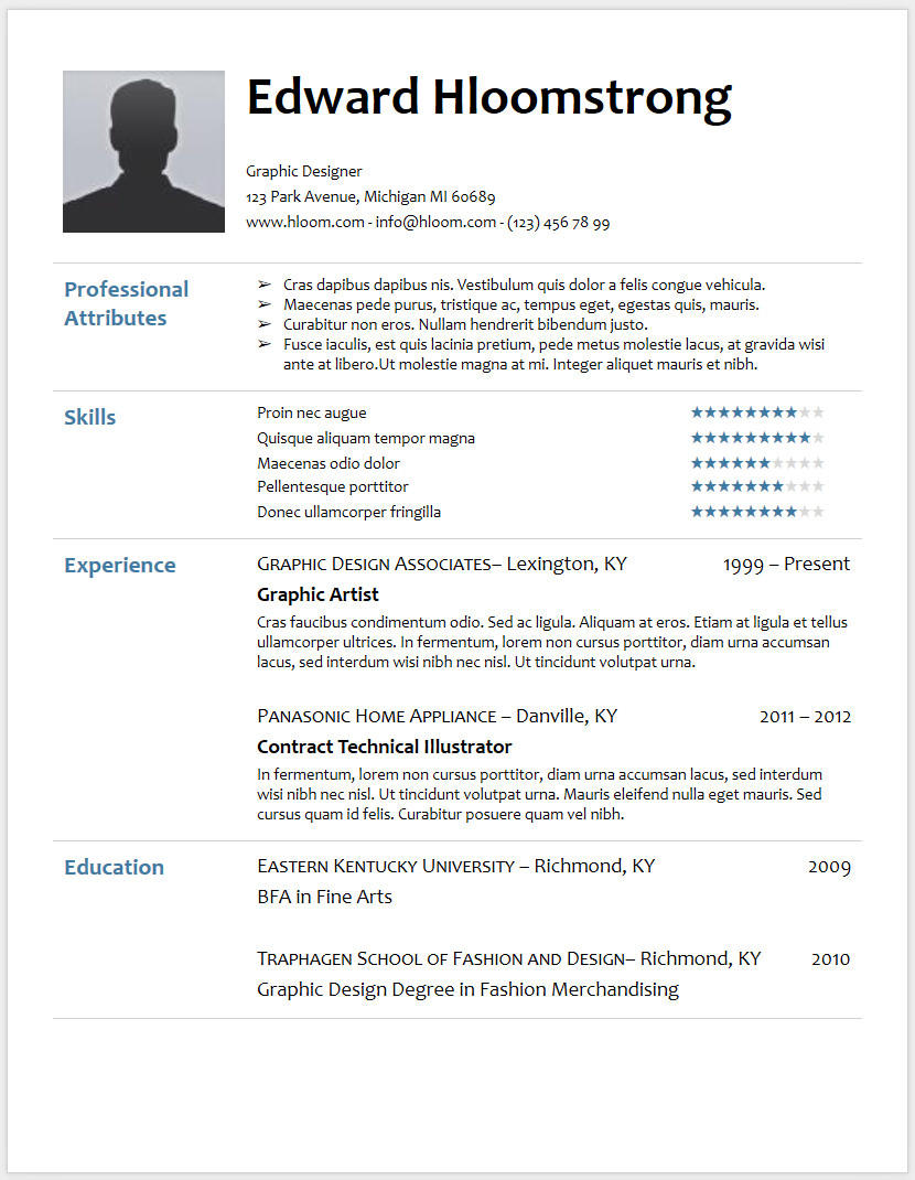 63 Great Professional Cv Format Doc for Design