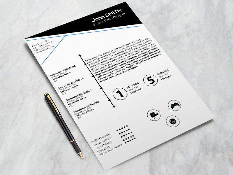 63 Lovely Free Stylish Resume Templates with Pictures