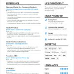 63 Top A One Page Resume with Design