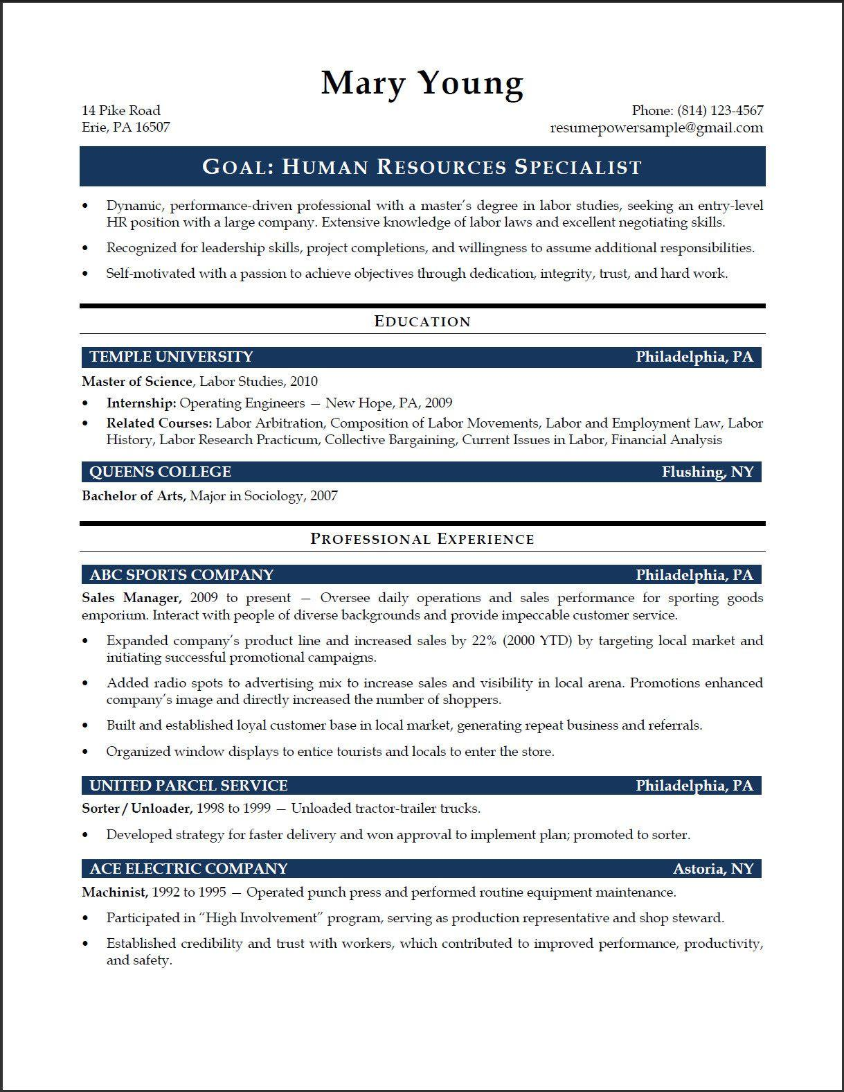 64 Stunning Entry Level Human Resources Resume by Ideas
