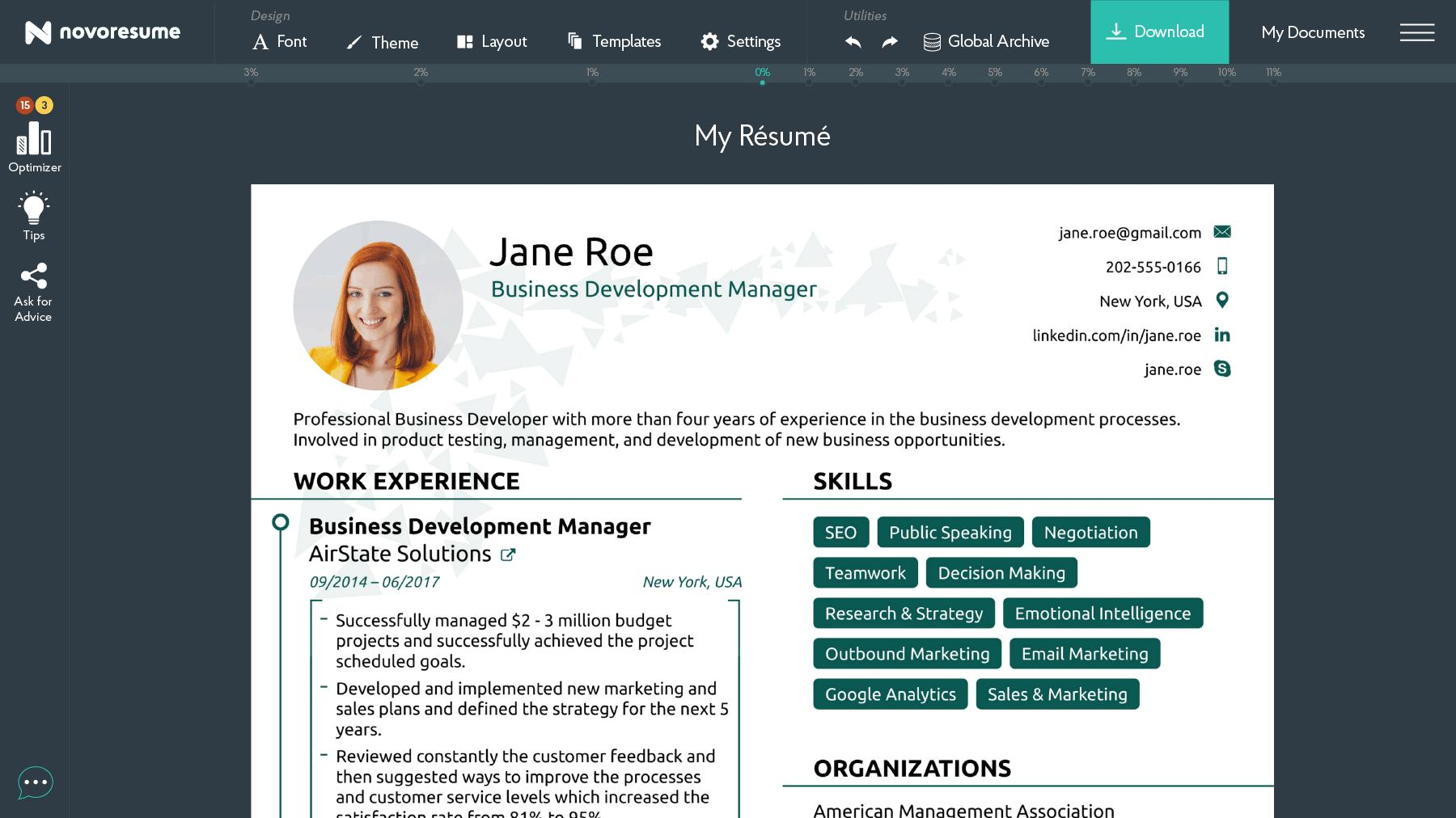 64 Stunning Resume Builder Online Free For Students for Ideas
