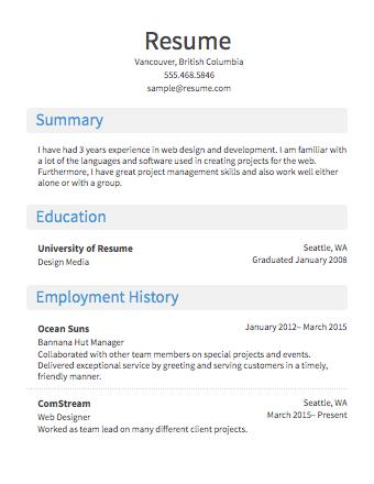65 Awesome Sample Resume Format by Pics