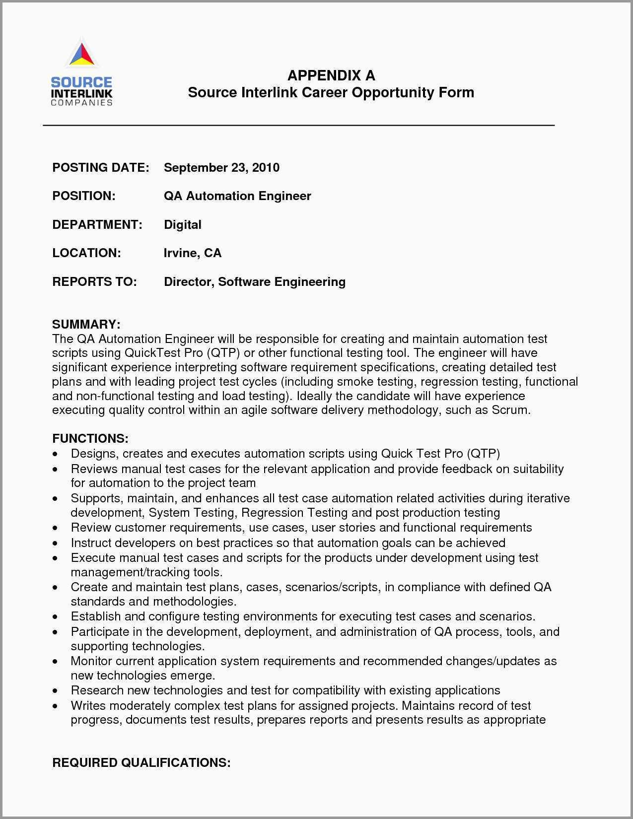 65 Best Automation Engineer Resume with Ideas