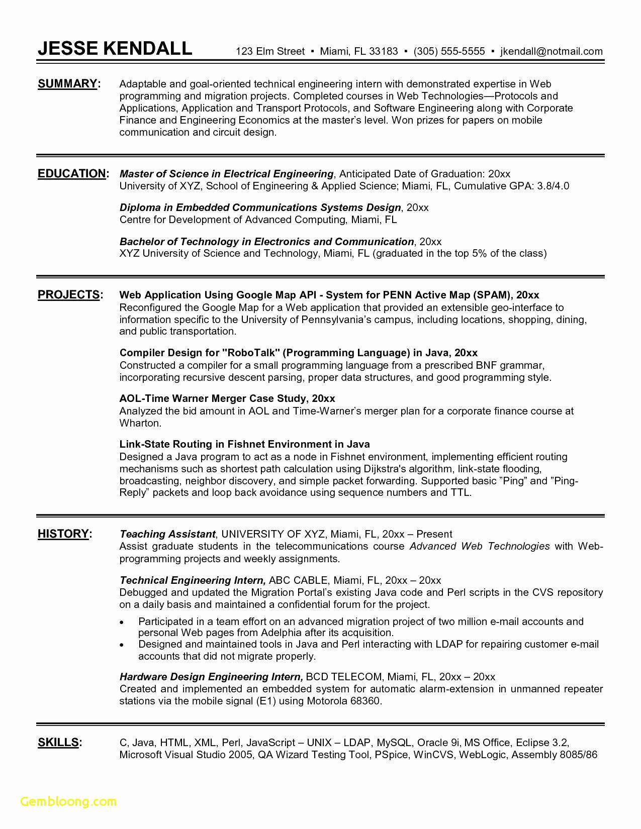65 Fresh Good Resume Templates with Pictures