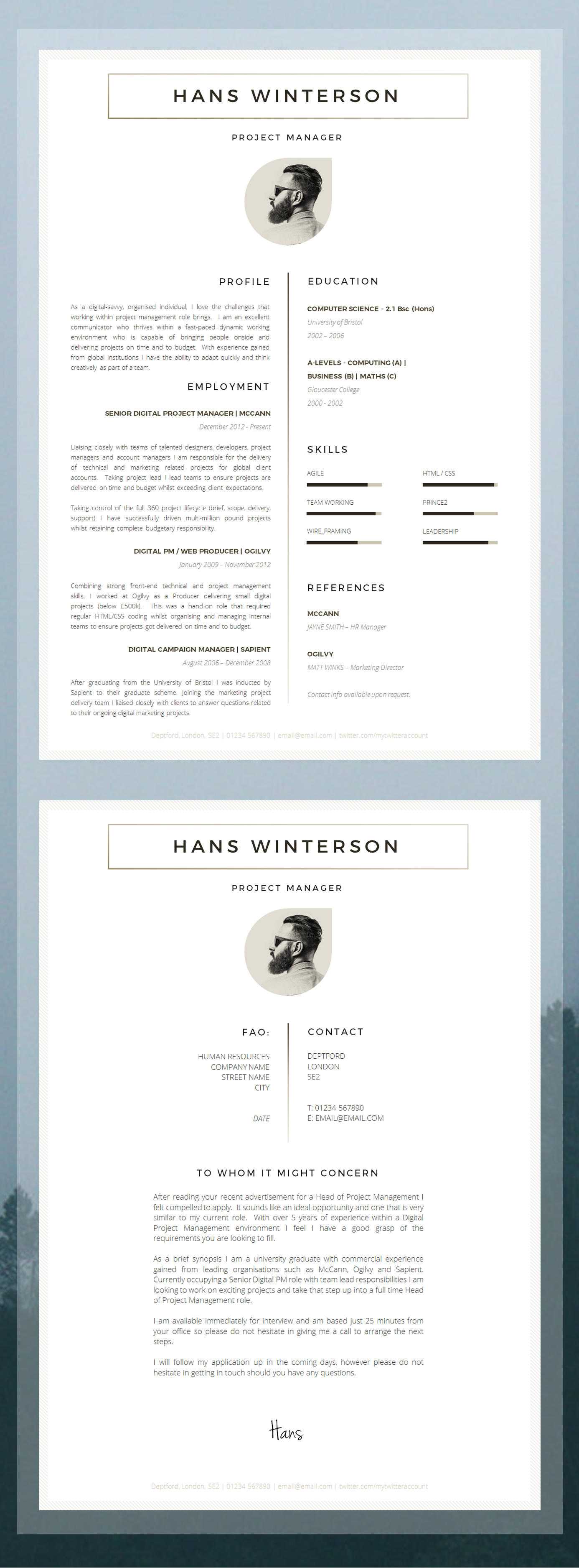 65 Nice Professional Cv Template Word by Images