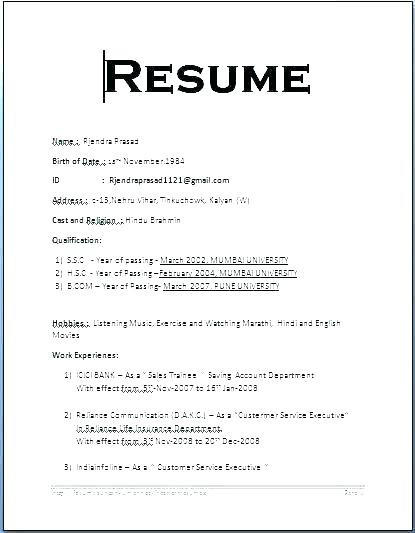 66 Awesome Resume Format Download In Ms Word with Pictures