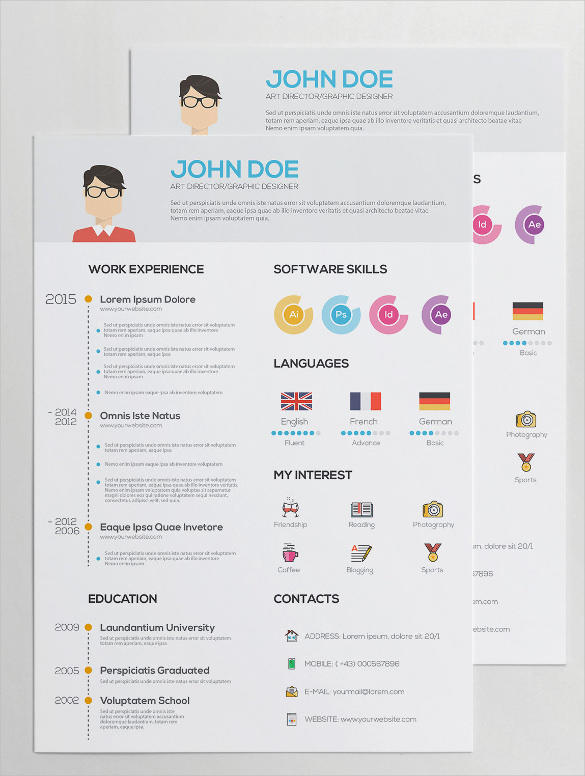 66 Cool Graphic Resume Template with Ideas