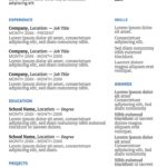 66 Fresh Job Resume Template for Images