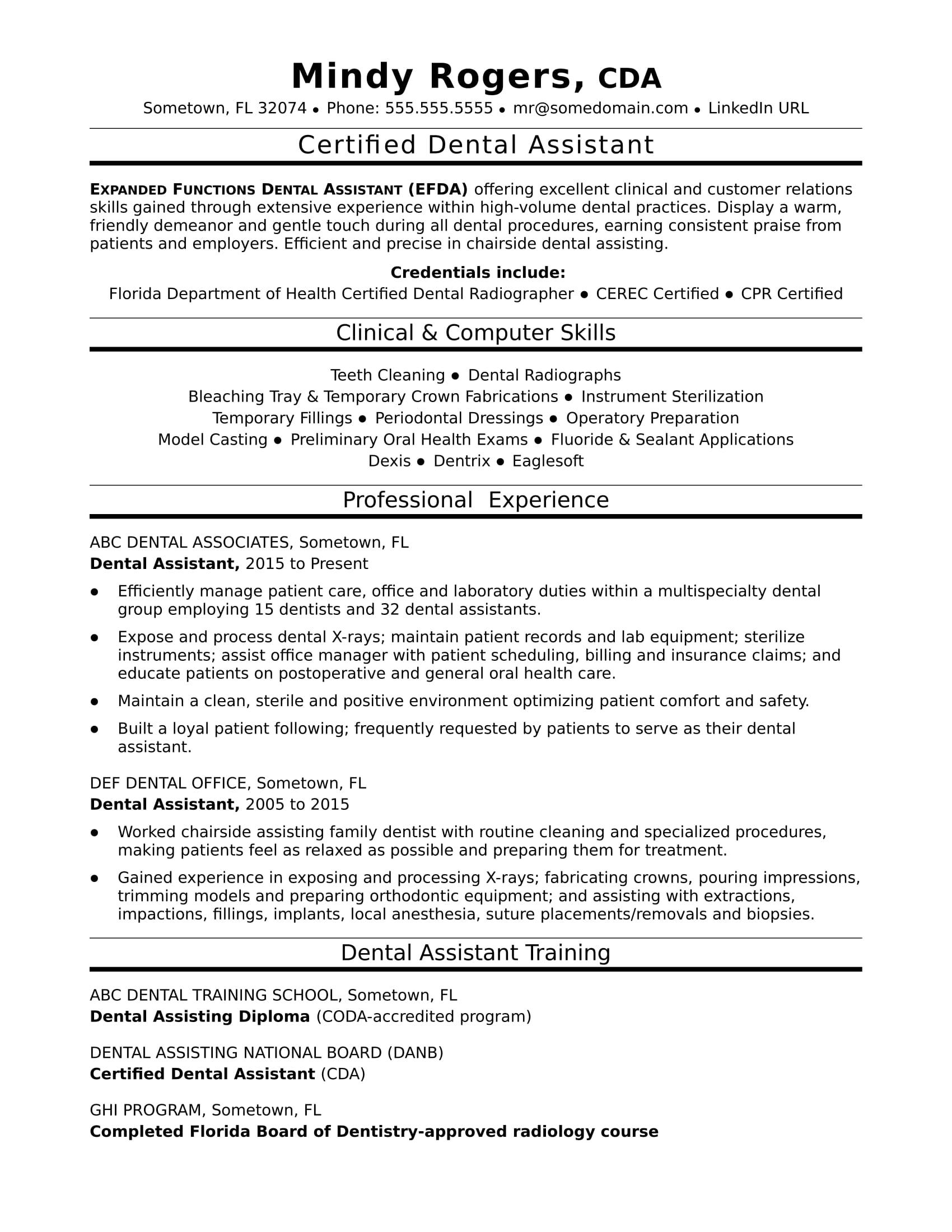 66 Great Dental Assistant Resume Skills Examples by Ideas
