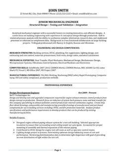 66 Inspirational Mechanical Engineer Resume Sample by Design