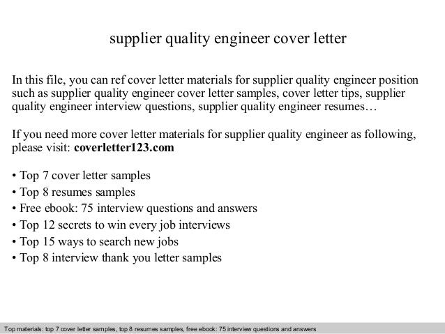 66 Stunning Quality Engineer Cover Letter for Pictures