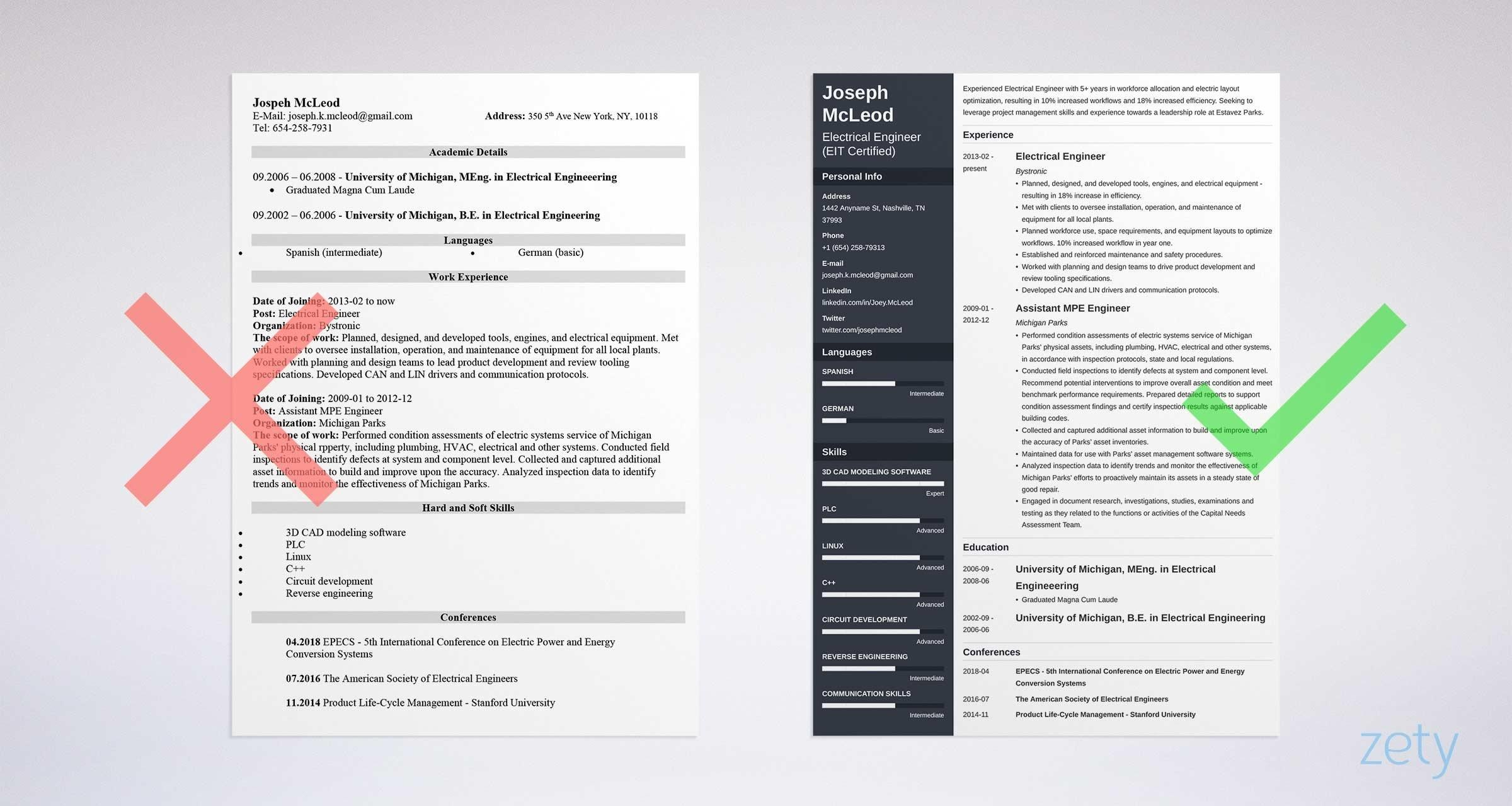 67 Beautiful Electrical Engineering Resume Sample For Freshers with Ideas