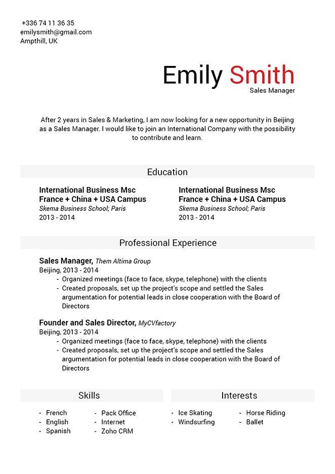 67 Excellent Perfect Cv Format with Ideas