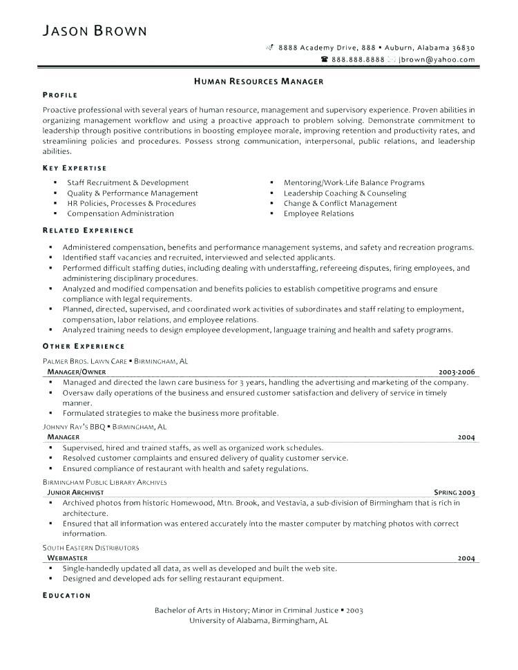 67 Fresh Entry Level Human Resources Resume by Ideas