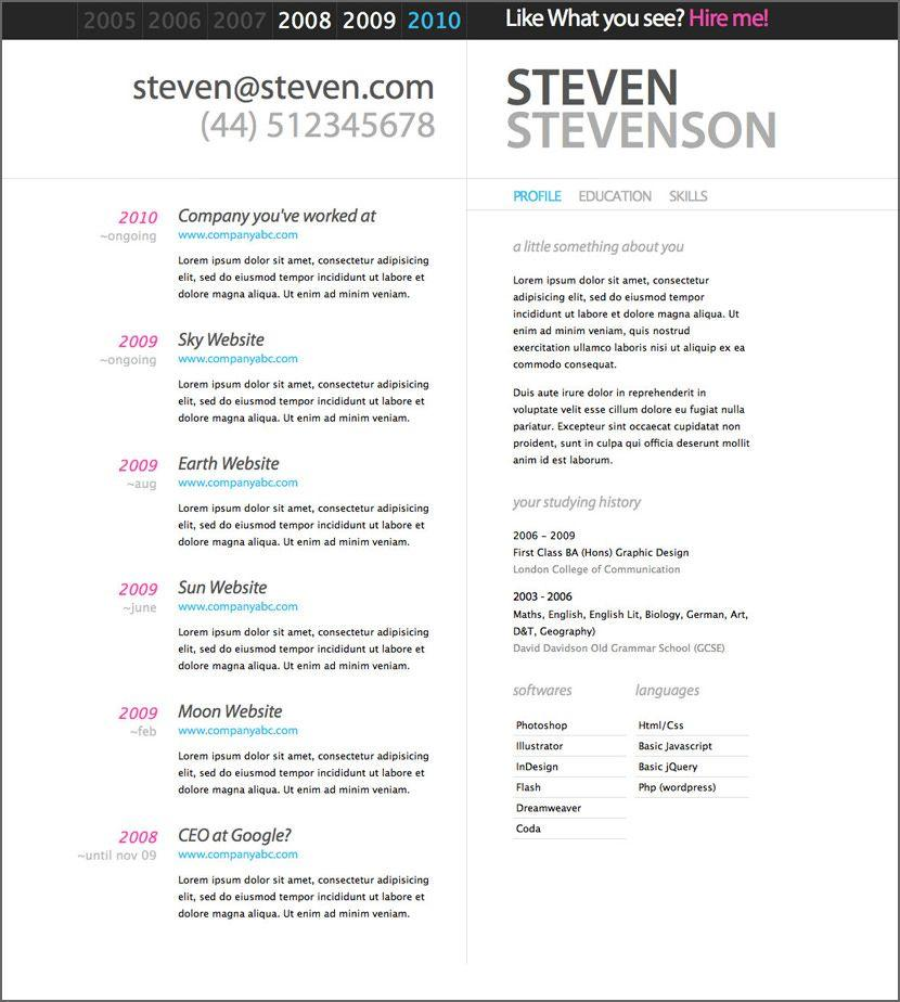 67 Great Resume Template Word Doc Free for Ideas